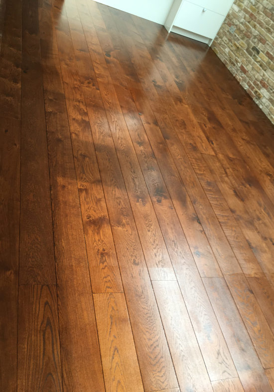 Sussex Floors install Polished wood floorboards